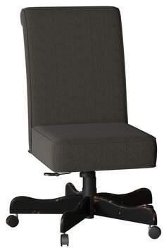 Walton Sam Moore Task Chair Sam Moore Body Fabric: 9017-115236-F22, Leg Color: Aged Black