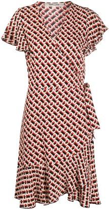 Dvf Diane Von Furstenberg Geometric-Print Wrap Dress