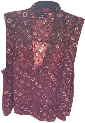 Isabel Marant Burgundy Silk Top for Women