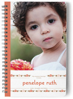 Minted Floweret Day Planner, Notebook, or Address Book