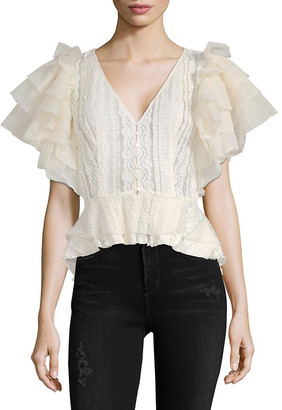 Ronny Kobo Faanan Textured Top