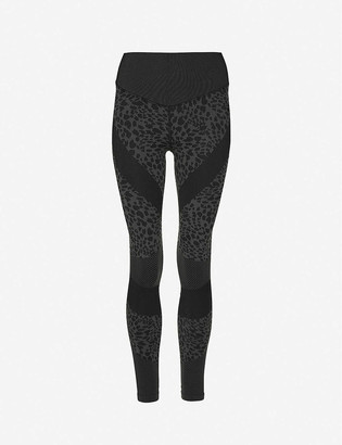 Good American Leopard-print high-rise seamless stretch-jersey leggings