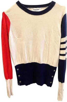 Thom Browne White Cashmere Knitwear for Women