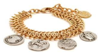 Ancient Greek Sandals Charm-embellished Chain Anklet - Womens - Gold