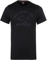 Paul & Shark Black Crew Neck Print T-shirt