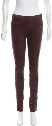 Giorgio Brato Leather Straight-Leg Leggings w/ Tags