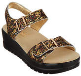 Alegria Leather Multi Strap Wedge Sandals -Morgyn