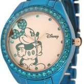 Disney Women's Mickey Mouse Rhinestone Accent Bracelet Watch MK2136
