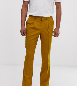 Heart N Dagger slim fit smart pants in mustard