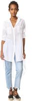 Enza Costa Side Slit Baseball Midi Shirt