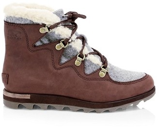 Sorel Sneakchic Alpine Shearling Leather Boots