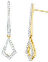 Zales 1/2 CT. T.W. Diamond Open Kite-Shaped Drop Earrings in 10K Gold