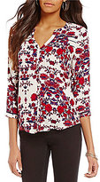 Lucky Brand Long Sleeve Vintage Floral Print Top