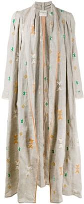 Forte Forte Kilim-Embroidered Long Coat