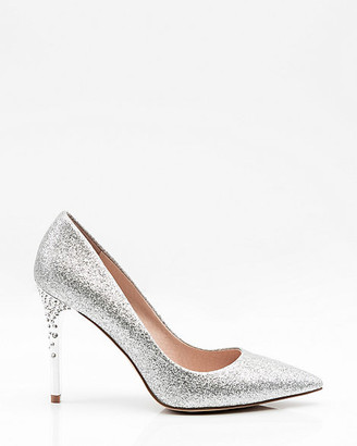 Le Château Jewel Embellished Glitter Pointy Toe Pump