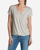 Eddie Bauer Women's Girl On The Go Wrap It Up Top - Stripe