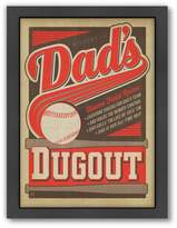 Americanflat Anderson Design Group ''Dad's Dugout'' Framed Wall Art