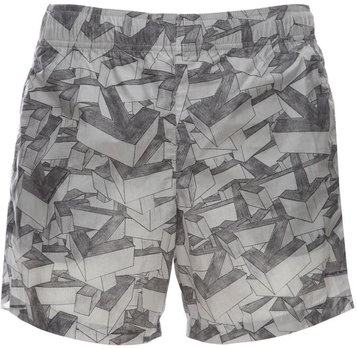 Off-White Off White Arrows Pattern Print Tech Swim Shorts