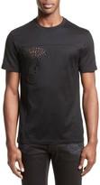 Versace Men's Eyelet Embroidered Medusa T-Shirt