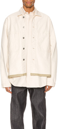 Jil Sander Selvedge Workwear Jacket in Ecru | FWRD