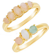 Thumbnail for your product : Sterling Forever 14K Gold Over Silver Set Of 2 Rings