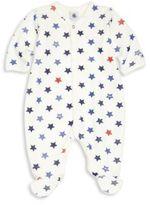 Petit Bateau Baby's Star Print Footie