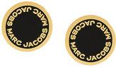 Marc Jacobs logo stud earrings
