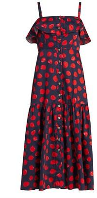 Borgo de Nor Florence Popover Poplin Midi Dress