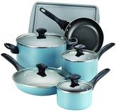 Farberware 15-Piece Aqua Nonstick Cookware Set