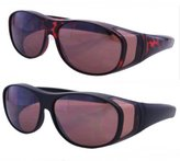 Pink Ribbon Shades 2 Pair Polarized Fit Over Lens Cover Sunglasses -Night Driving/Polarized