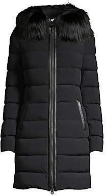 Mackage Women's Calla Silverfox Fur-Trim Puffer Down Jacket