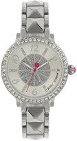 Betsey Johnson Women's Silver-Tone Bracelet Watch 35mm BJ00617-01