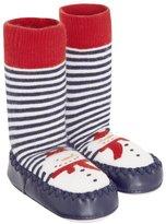Jo-Jo JoJo Maman Bebe Slipper Socks (Baby) - Snowman-6-12 Months
