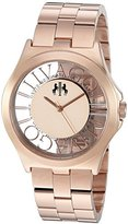 Jivago Women's 'Fun' Swiss Quartz Stainless Steel Casual Watch, Color:Rose Gold-Toned (Model: JV8411)