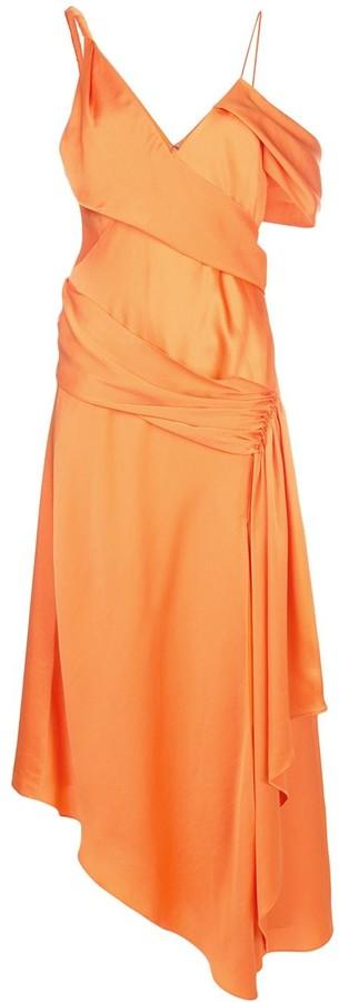 Jonathan Simkhai Asymmetric Draped Maxi Dress