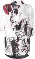 Antonio Marras printed asymmetric blouse