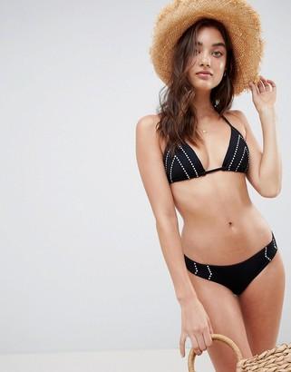 Seafolly black brazilian bikini bottoms