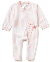 Elegant Baby Baby Girls Newborn-3 Months Long-Sleeve Striped Coverall