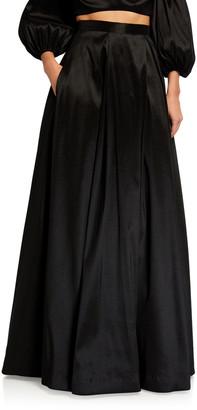 LIKELY Fila Long Inverted Pleat Full Skirt