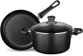 """Scanpan 60th Anniversary 9.5"""" Fry Pan and 4 Quart Dutch Oven with Interchangeable Lid, 3 Piece Set"""