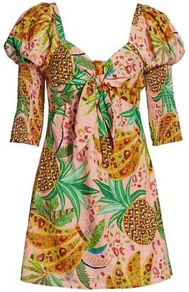 Farm Rio Mixed Fruits Mini Dress
