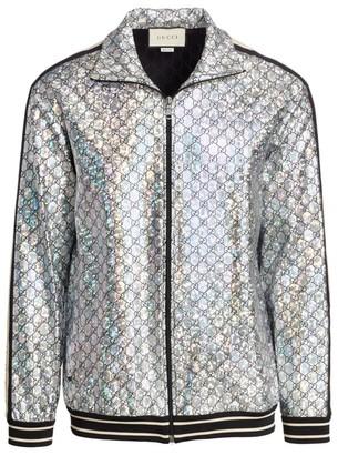 Gucci Laminated Sparkling GG Jersey Jacket