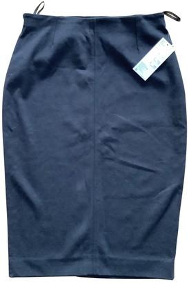 Uniqlo Black Cotton - elasthane Skirt for Women