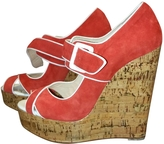 Christian Louboutin Red Wedges Louboutins