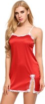 Avidlove Women's Sexy Pajamas Floral Lace Babydoll Lingerie with G-string (Red)