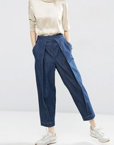 Asos Mom Jeans with Front Pleat Detail