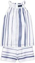 Ralph Lauren Girls' Stripe Top & Shorts Set - Big Kid
