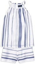 Ralph Lauren Girls' Stripe Top & Shorts Set - Sizes 7-16