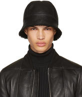 Rick Owens Black Shearling Gilligan Bucket Hat
