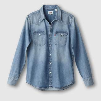 Levi's Straight Denim Shirt with Western Seaming
